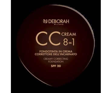 Deborah Компактная крем-основа для лица CC 8 в 1